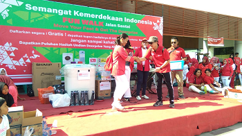 ManCy Duri Gelar Fun Walk HUT ke-73 RI